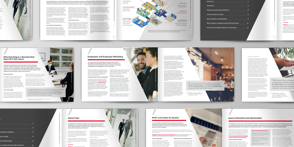 eBook - using occupancy data to re-engage employes with the workplace - multiple pages